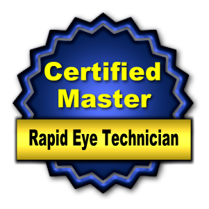 Certified Master Rapid Eye Technician Badge